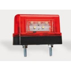 Osvetlenie ŠPZ - červené - LED
