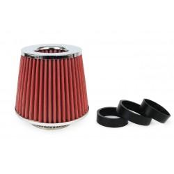 Športový vzduchový filter + 3 adaptéry (chrome)