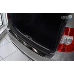 Ochranná nerezová lišta prahu piatych dverí (čierna) Superb II Kombi Facelift 2013 - 2015