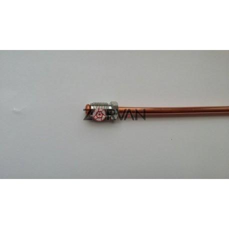 Medená brzdová trubka 550mm s koncovkami M10x1