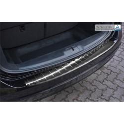 Ochranná nerezová lišta prahu piatych dverí (čierna) VW Sharan 2010 -