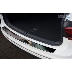 Ochranná nerezová lišta prahu piatych dverí (čierna) VW Tiguan II 2016 -
