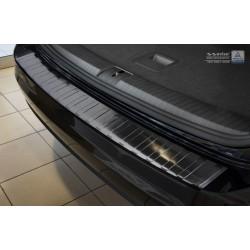 Ochranná nerezová lišta prahu piatych dverí (čierna) VW Touran 2015 -