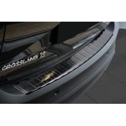 Ochranná nerezová lišta prahu piatych dverí (čierna) Opel Crossland X 2017 -