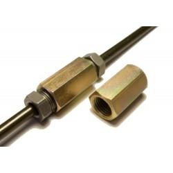 Spojka pre brzdové trubky, 2x závit M12x1