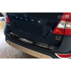 Ochranná nerezová lišta prahu piatych dverí (čierna) Volvo XC70 2007 - 2013