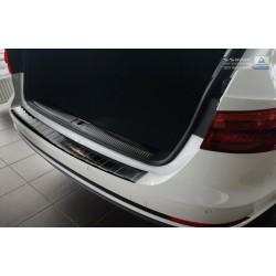 Ochranná nerezová lišta prahu piatych dverí (čierna) Audi A4 B9 Avant 2015 -
