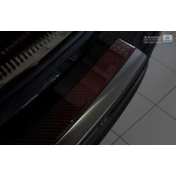 Ochranná nerezová lišta prahu piatych dverí (čierna / červeno-čierny carbon) Audi Q5 2008 -