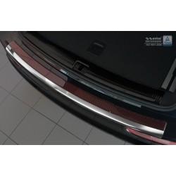 Ochranná nerezová lišta prahu piatych dverí (chróm / červeno-čierny carbon) Audi Q5 2008 -