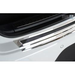 Ochranná nerezová lišta prahu piatych dverí (chróm / čierny carbon) Porsche Macan 2014 -