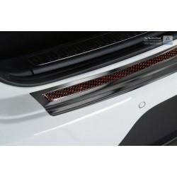 Ochranná nerezová lišta prahu piatych dverí (čierna / červeno-čierny carbon) Porsche Macan 2014 -