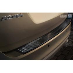 Ochranná nerezová lišta prahu piatych dverí (čierna) Ford Kuga 2008 - 2012