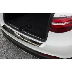 Ochranná nerezová lišta prahu piatych dverí (čierna) Mercedes GLC 2015 -