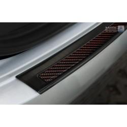 Ochranná nerezová lišta prahu piatych dverí (čierna / červeno-čierny carbon) Mercedes GLE Coupe 2015 -