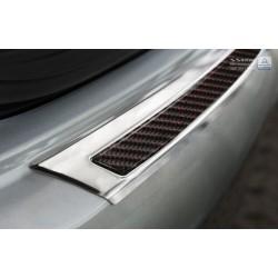 Ochranná nerezová lišta prahu piatych dverí (chróm / červeno-čierny carbon) Mercedes GLE Coupe 2015 -