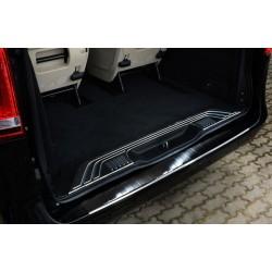 Ochranná nerezová lišta prahu piatych dverí (čierna) Mercedes V-Class W447/Vito III 2014 -