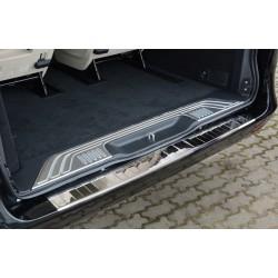 Ochranná nerezová lišta prahu piatych dverí (lesklá) Mercedes V-Class W447/Vito III 2014 -