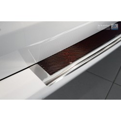 Ochranná nerezová lišta prahu piatych dverí (chróm / červeno-čierny carbon) Mercedes V-Class W447/Vito III 2014 -