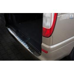 Ochranná nerezová lišta prahu piatych dverí (lesklá) Mercedes Vito II/Viano W639 2003 - 2014