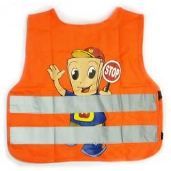 Reflexná vesta detská - oranžová (chlapec)