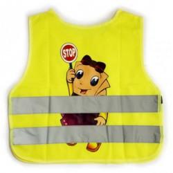 Reflexná vesta detská - žltá (dievča)