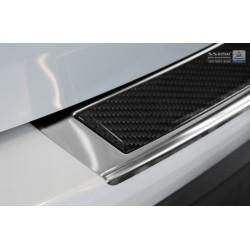 Ochranná nerezová lišta prahu piatych dverí (chróm / čierny carbon) Mazda CX-5 2012 - 2017