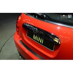 Ochranná nerezová lišta prahu piatych dverí (čierna / čierny carbon) Mini Cooper III F56 2014 -