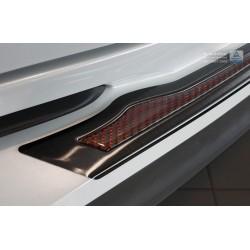 Ochranná nerezová lišta prahu piatych dverí (čierna / červeno-čierny carbon) Toyota C-HR 2016 -