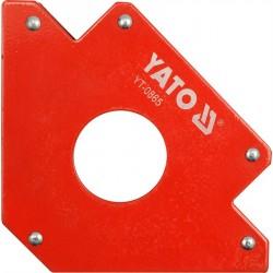 Uholník magnetický na zváranie s otvorom 122x190x25mm