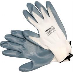 YATO Pracovné rukavice pogumované veľ.10 nylón /nytrylit