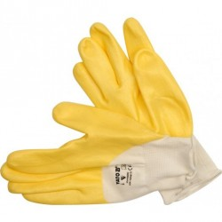 YATO Pracovné rukavice pogumované veľ.9 PE/nitrylit
