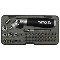 YATO Račňový skrutkovač kĺbový s príslušenstvom 42 ks box