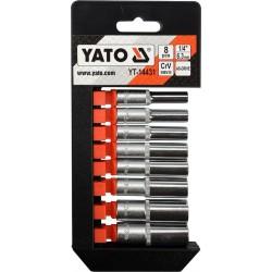 """YATO Sada nadstavcov 1/4"""" šesťhranné 8ks 5,5-13 mm"""