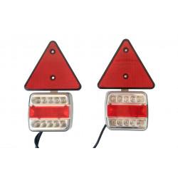 Sada koncových LED svetiel s magnetom+odrazka