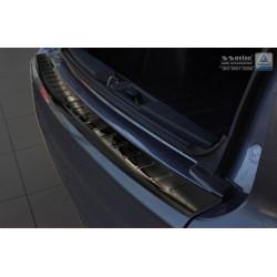 Ochranná nerezová lišta prahu piatych dverí (čierna) Peugeot 4007 2007 - 2012