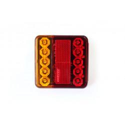 Zadné kombinované svetlo štvorcové LED 10-30V