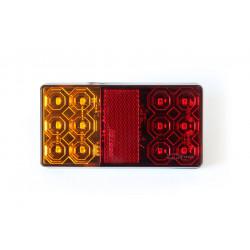 Zadné kombinované svetlo obdĺžnikové LED 10-30V