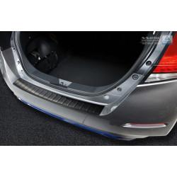 Ochranná nerezová lišta prahu piatych dverí (čierna) Nissan Leaf II 2017 -