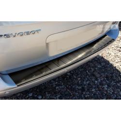 Ochranná nerezová lišta prahu piatych dverí (čierna) Peugeot 5008 2009 -