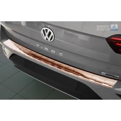 Ochranná nerezová lišta prahu piatych dverí (bronz) VW T-Roc 2017 -