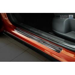 Nerezové kryty prahov (Sportline čierne) VW T-Roc 2017 -