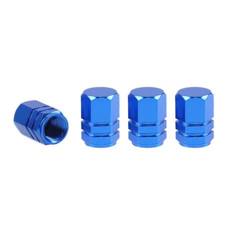 Hliníkové čiapočky na ventil modré 4 ks