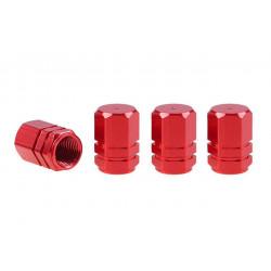 Hliníkové čiapočky na ventil červené 4 ks