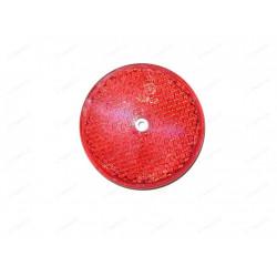 Odrazka s dierou a priemerom 80 mm - červená