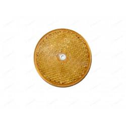 Odrazka s dierou a priemerom 80 mm - oranžová