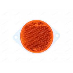Odrazka s dvoma dierami a priemerom 80 mm - oranžová
