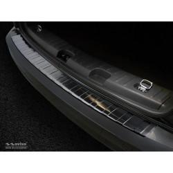 Ochranná nerezová lišta prahu piatych dverí (čierna) VW Caddy 2004 - 2015