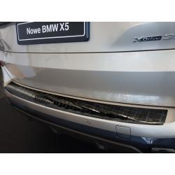 Ochranná nerezová lišta prahu piatych dverí (čierna) BMW X5 G05 M-Pakiet 2018 -