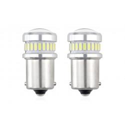 Led žiarovka P21 3014 24SMD + 3030 6SMD (R5W, R10W) CANBUS 12V/24V Biela