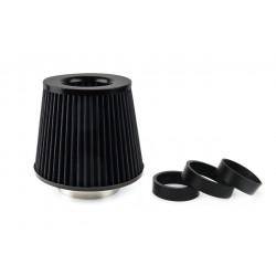Športový vzduchový filter + 3 adaptéry (black)